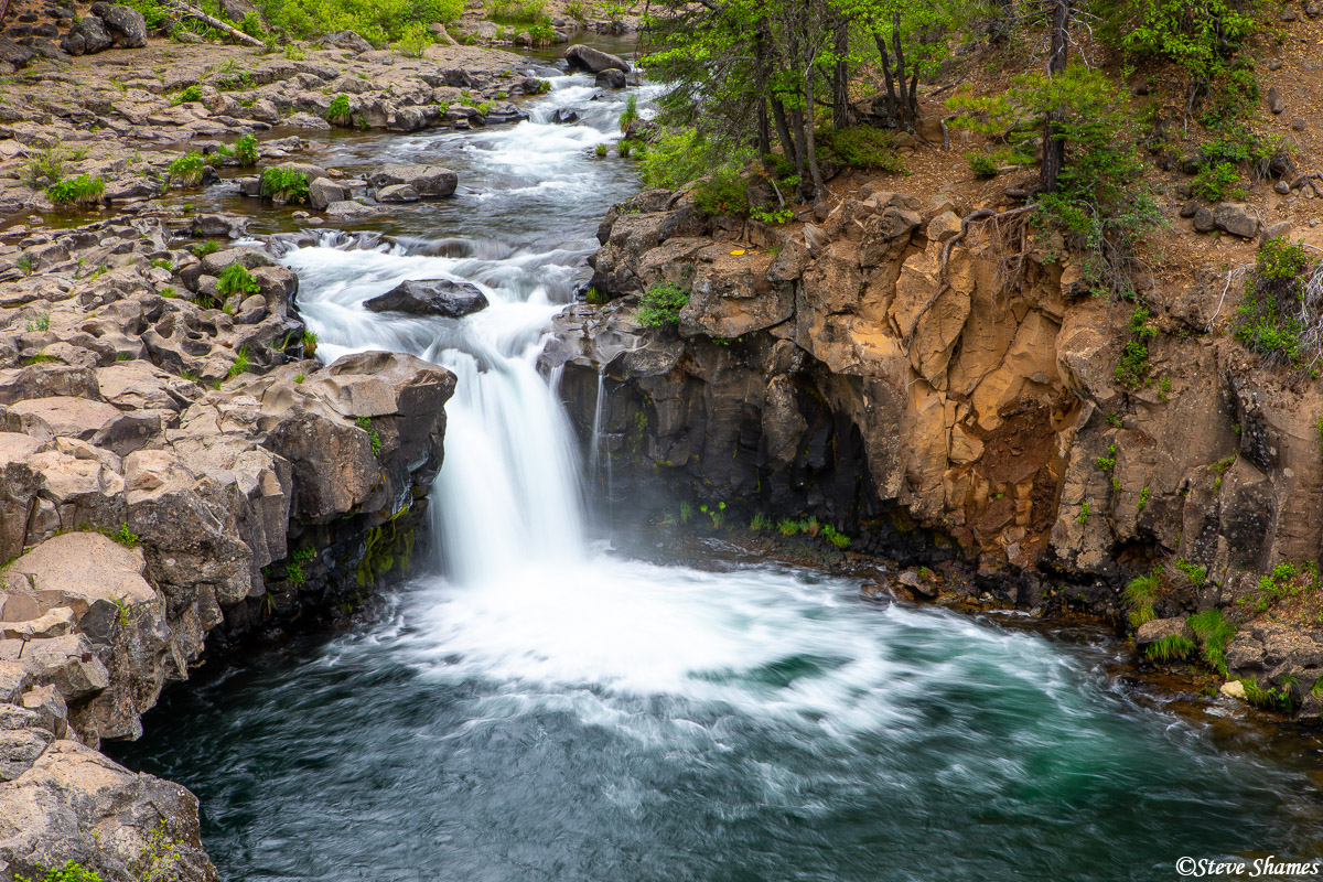 Lower McCloud Falls. There are three falls on the McCloud River.