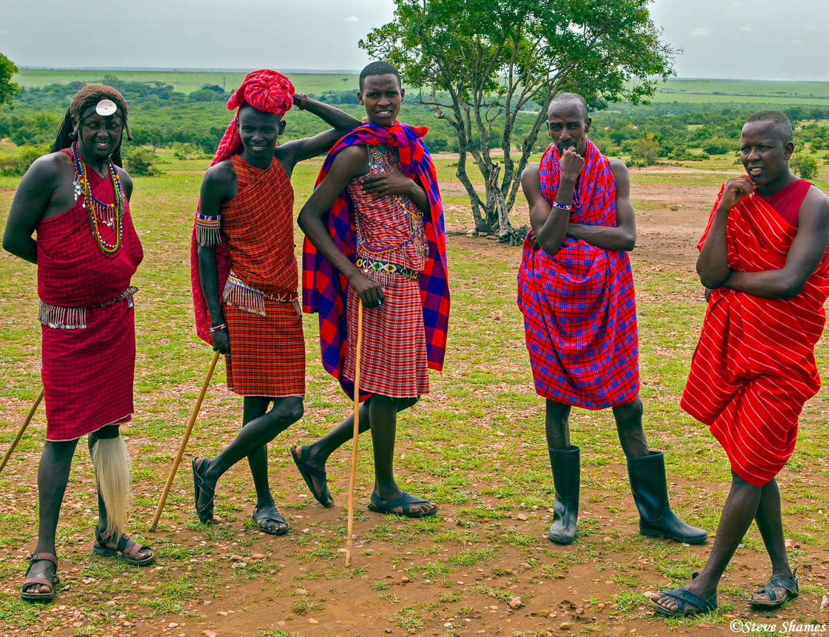 maasai men, village, kenya, photo