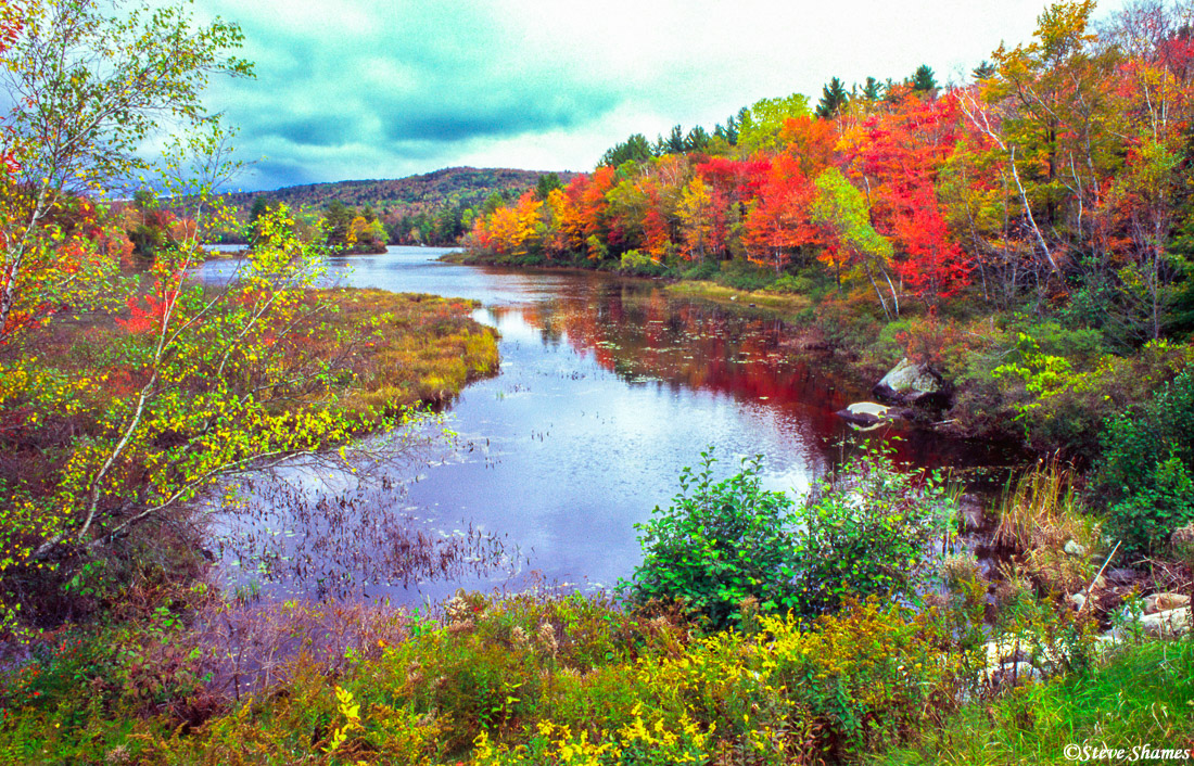 maine creek, river, new england, photo
