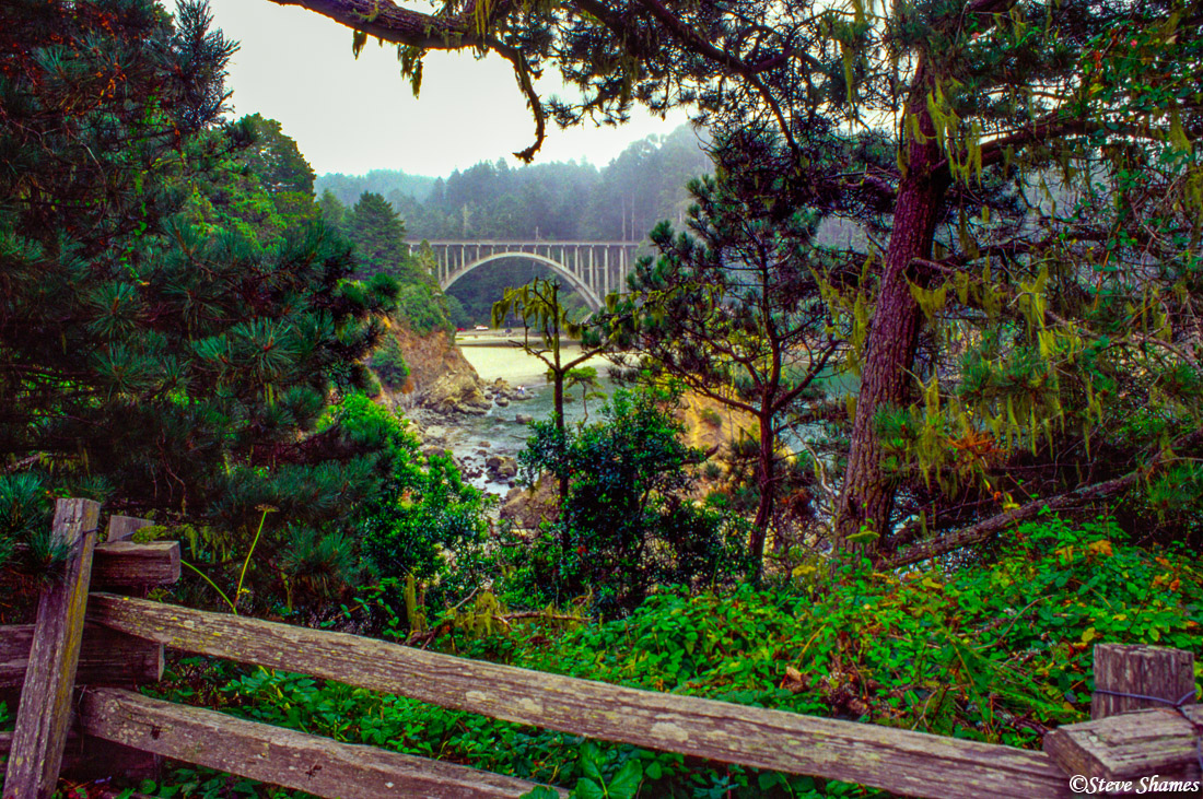 russian gulch, bridge, mendocino coast, california, photo