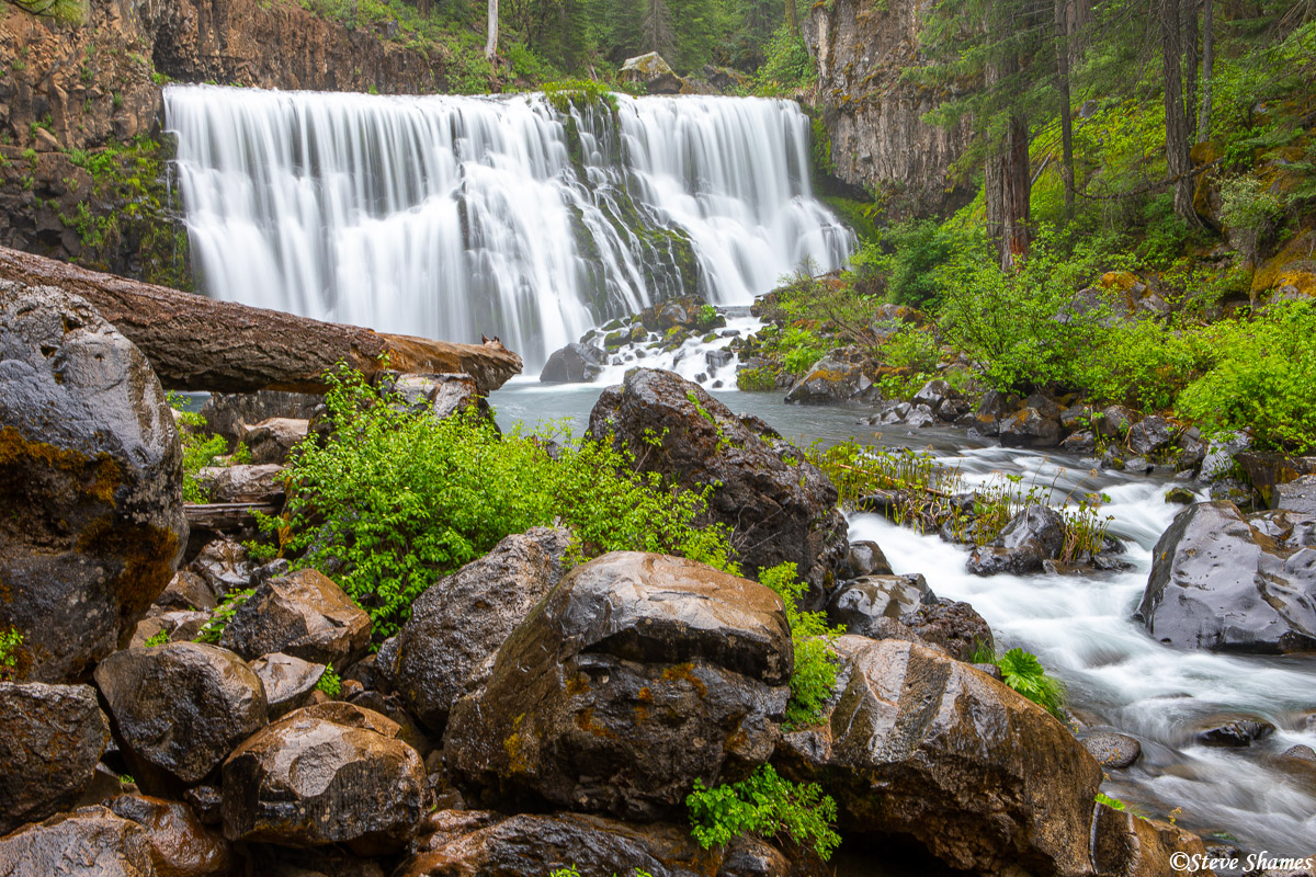 This is a beautiful waterfall -- Middle McCloud Falls.