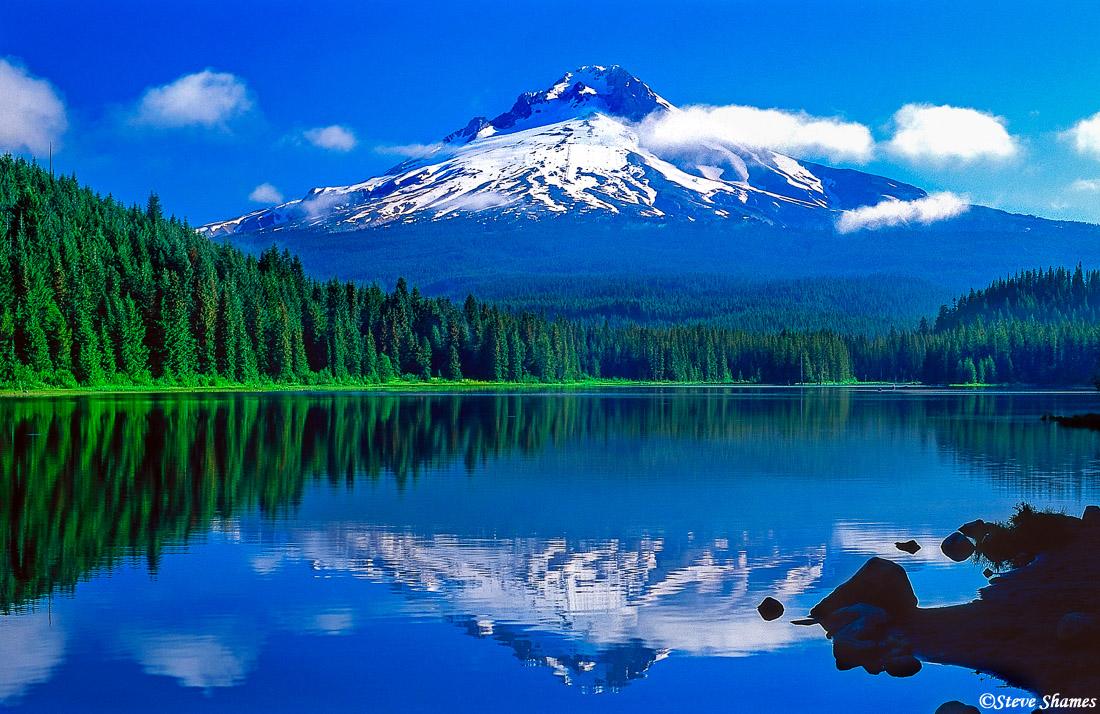 mt. hood, oregon, trillium lake, photo