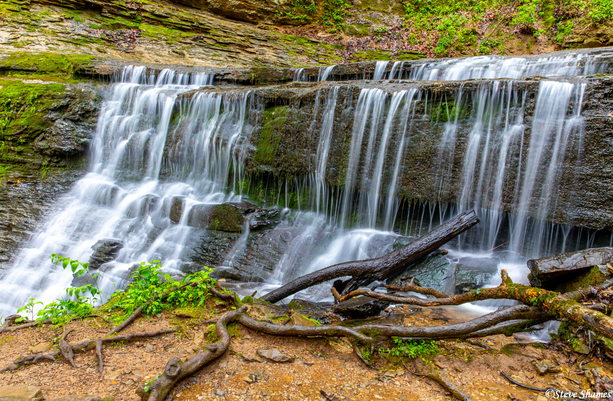 This was Jackson Falls, a scenic waterfall along the Natchez Trace Parkway.