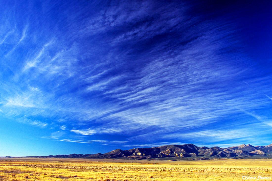baker, nevada, desert skies, photo