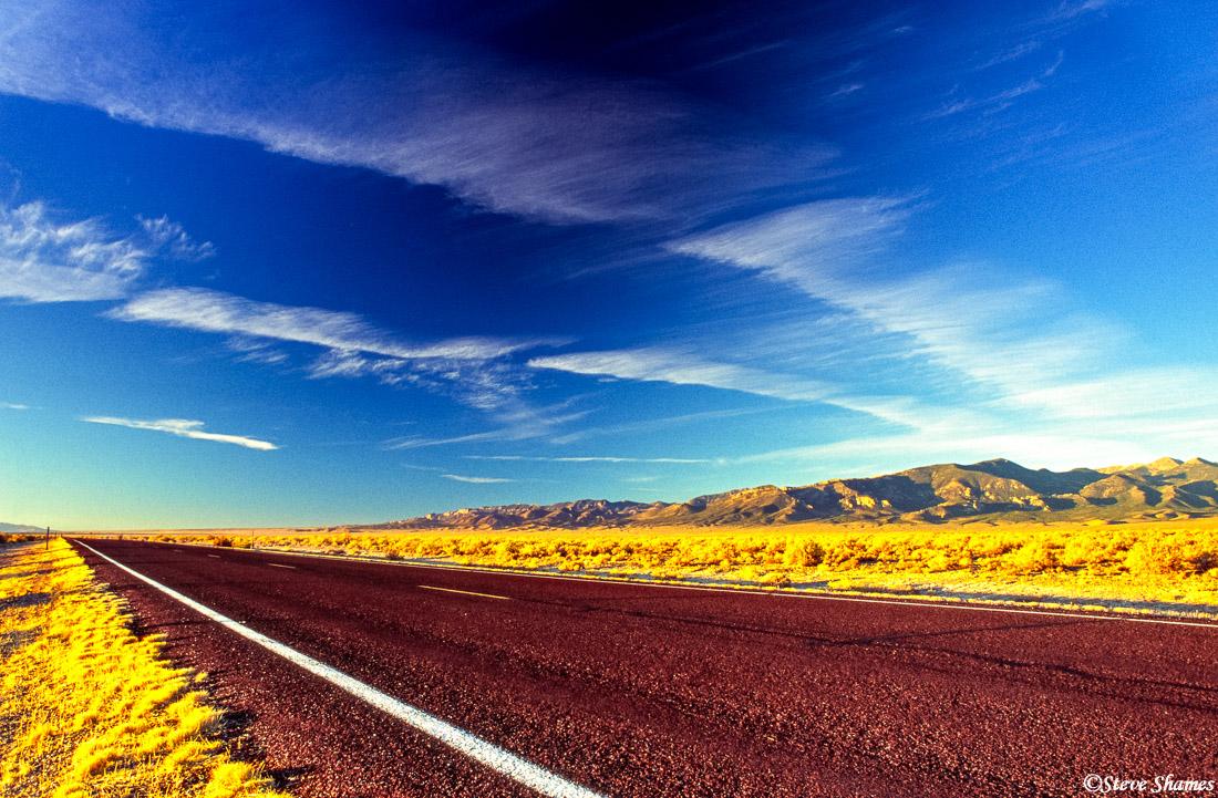 baker nevada, highway 159, great sky, photo