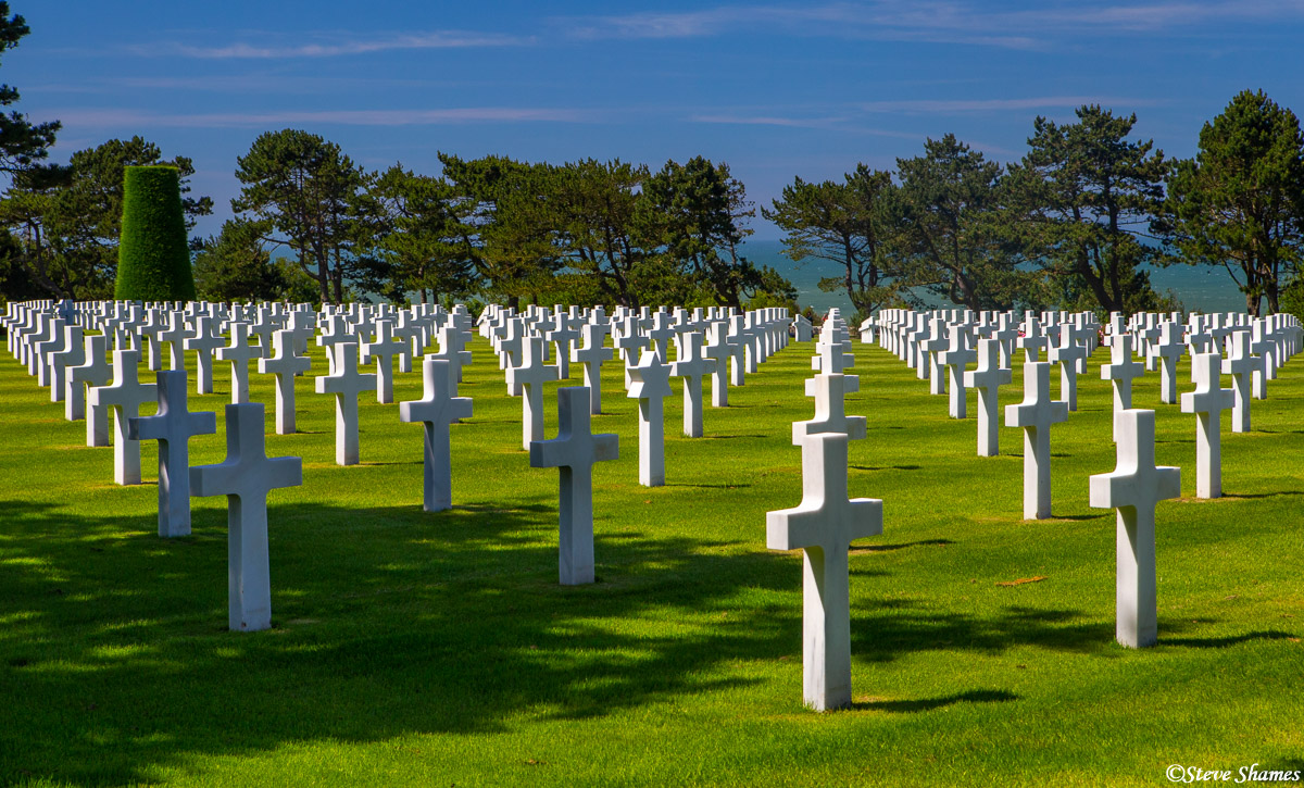 american cemetery, normandy, omaha beach, photo