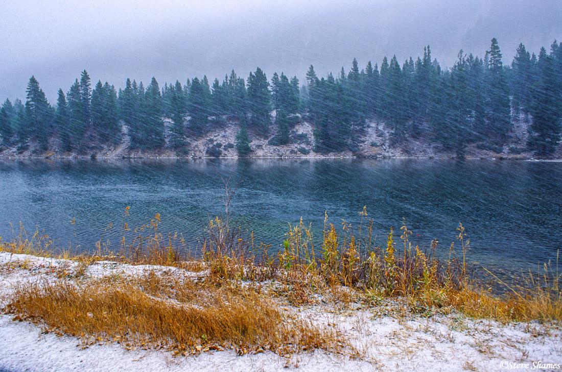 georgetown, colorado, fall snow, photo
