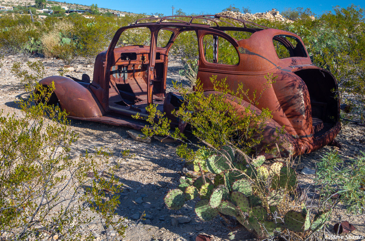 terlingua texas, old junked car, rusting, photo