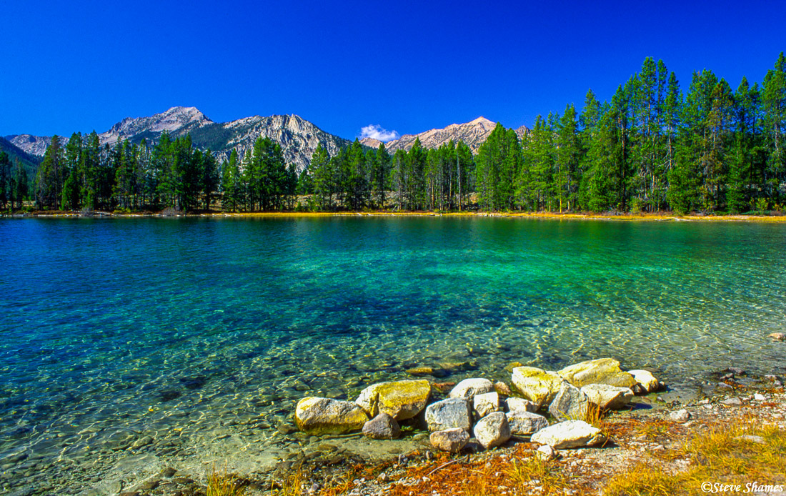 redfish lake, idaho, mountain lake, clear waters, photo