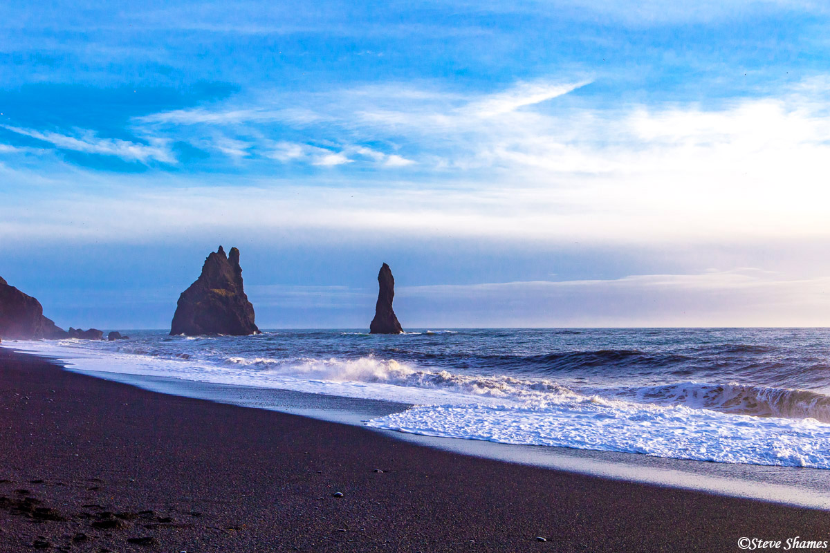 reynisfjara, iceland, black sand beach, photo