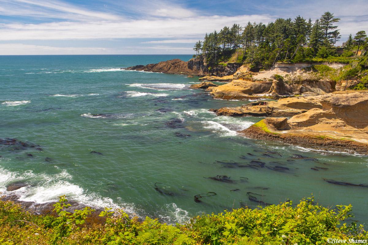 A rocky scene along the Oregon coast.