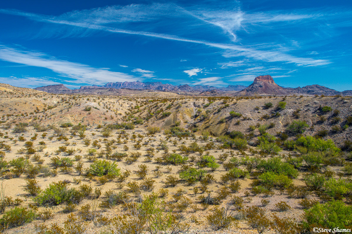 ross maxwell drive, big bend national park, west texas, photo