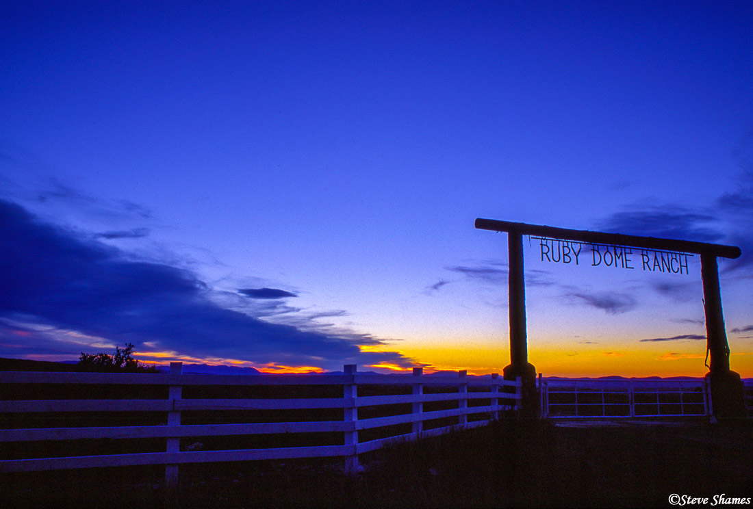ruby dome ranch, elko nevada, sunset, photo