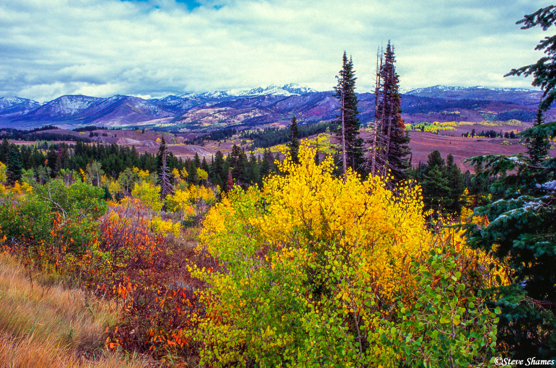 salt river pass, wyoming, snow covered mountains, photo