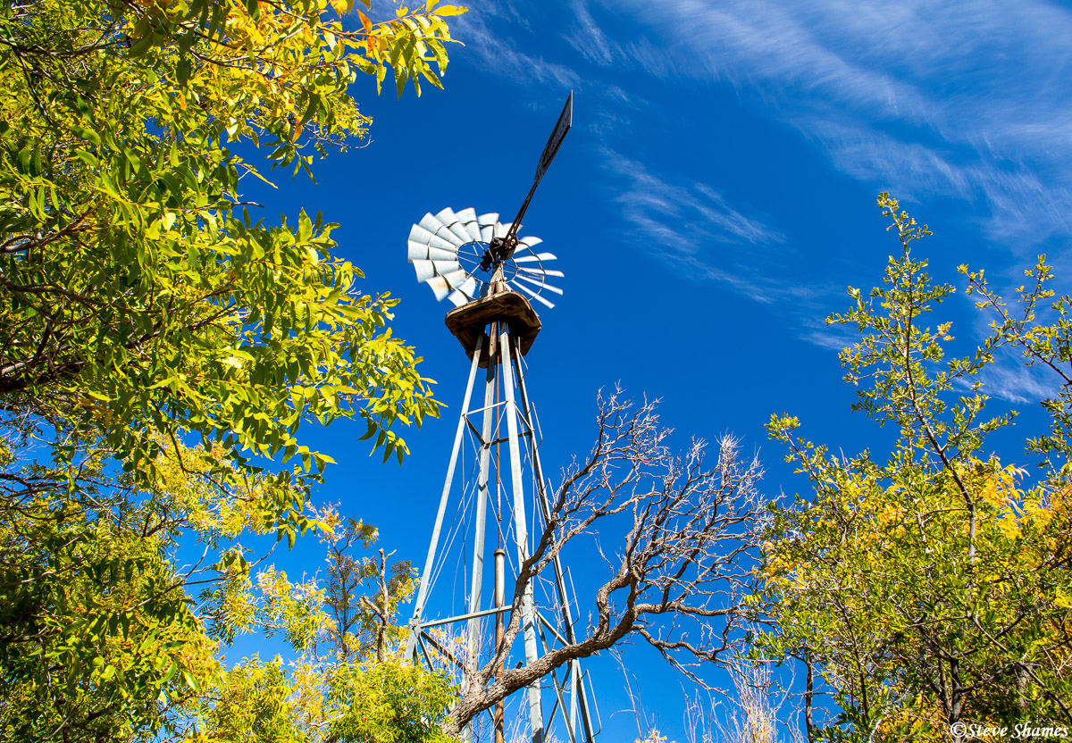 big bend national park, west texas, sam nail ranch, windmill, photo
