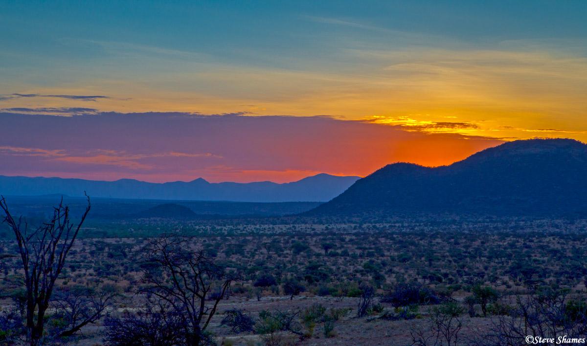 samburu sunset, kenya, photo