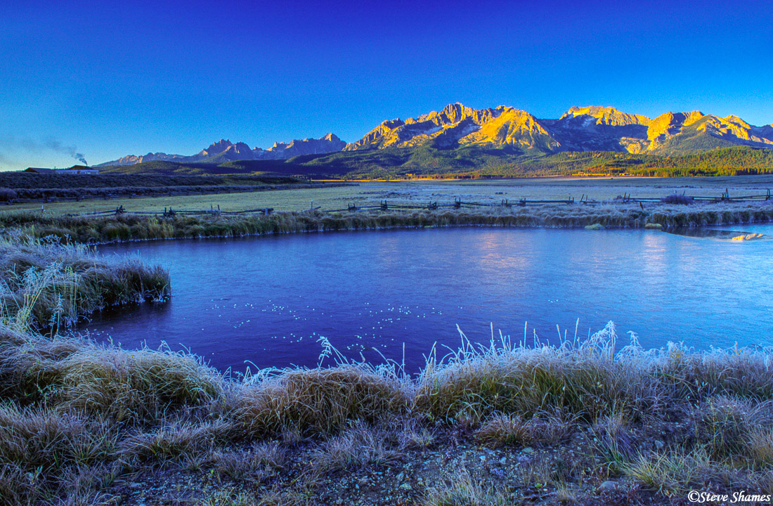 stanley, idaho, sawtooth mountains, frosty scene, photo