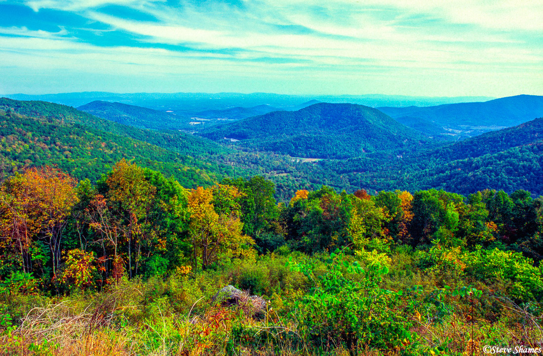 skyline drive, shenandoah, national park, virginia, photo