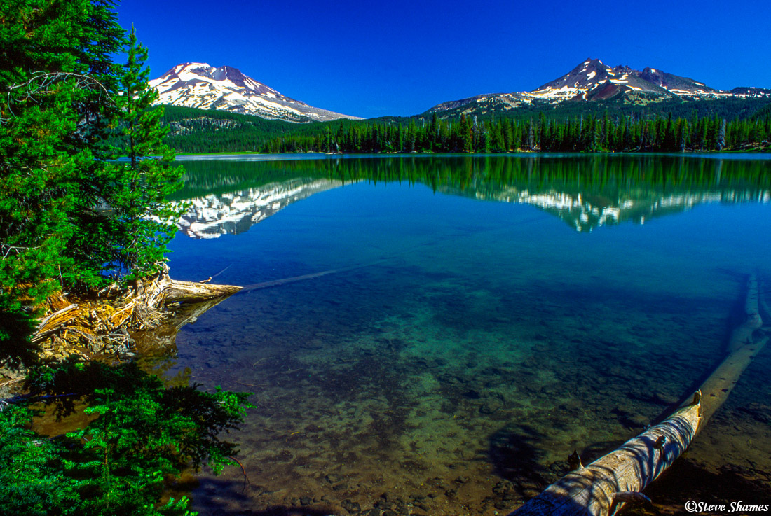 oregon, sparks lake, deschutes national forest, photo