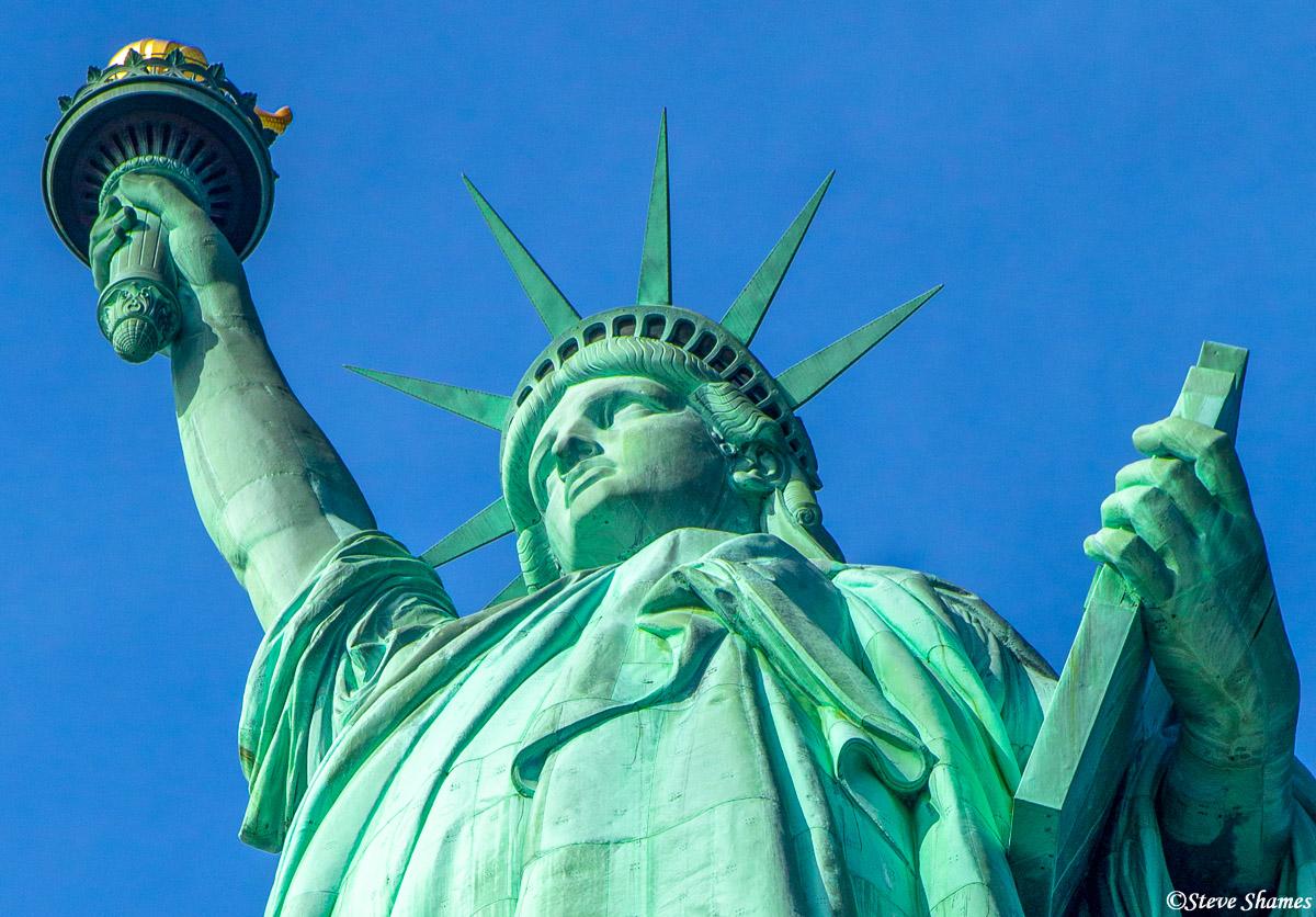 new york city, statue of liberty face, lady liberty, photo