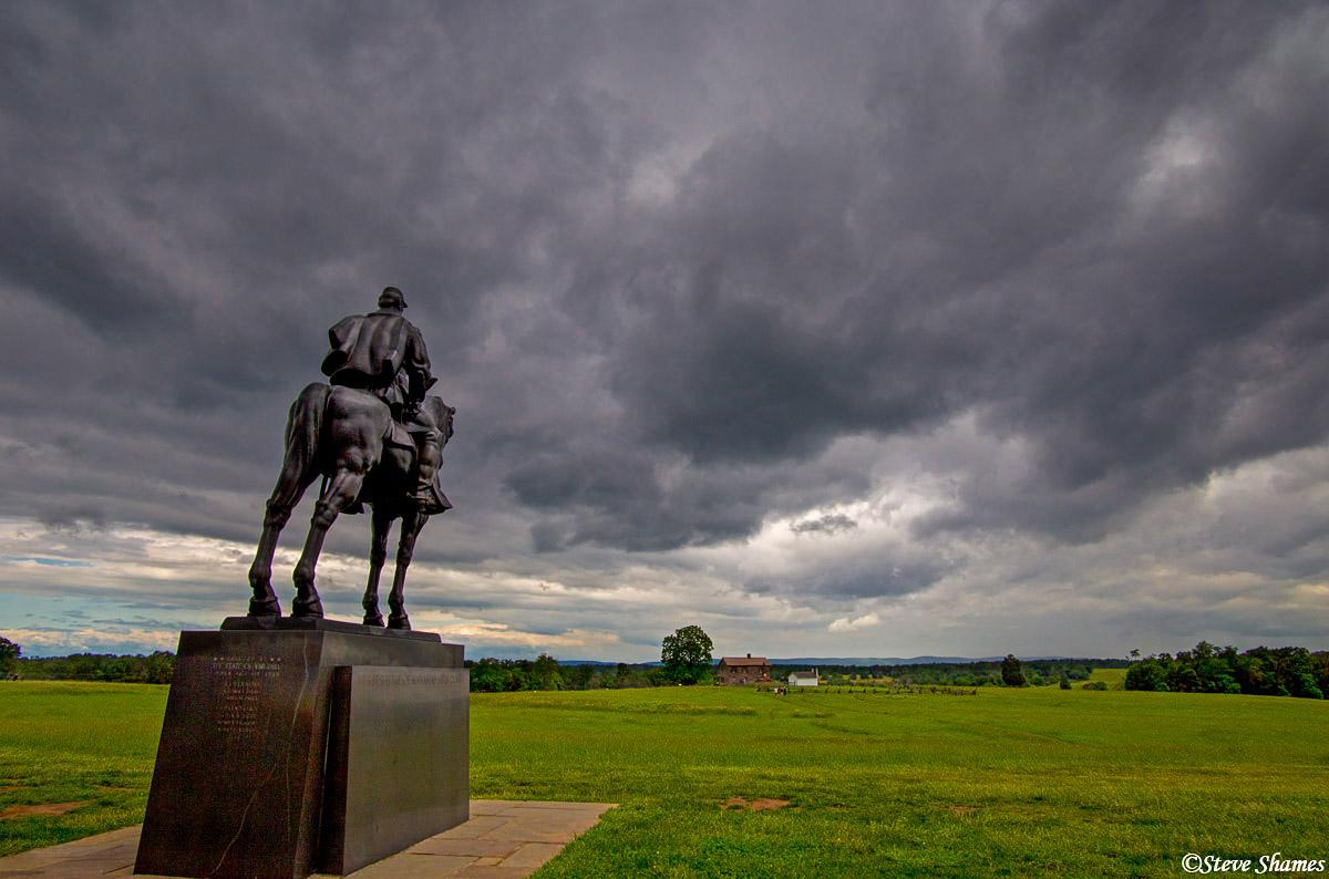 manassas national battlefield park, virginia, stonewall jackson statue, photo