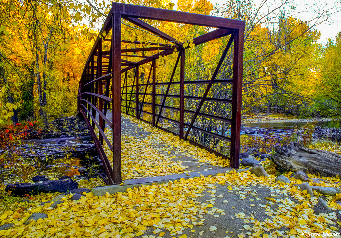 sun valley, idaho, walking bridge, photo
