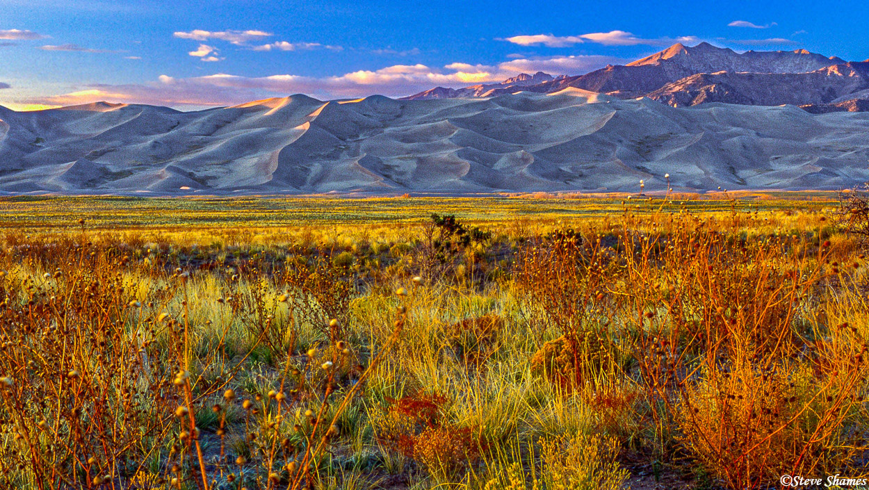 great sand dunes, national park, colorado, sunset, photo