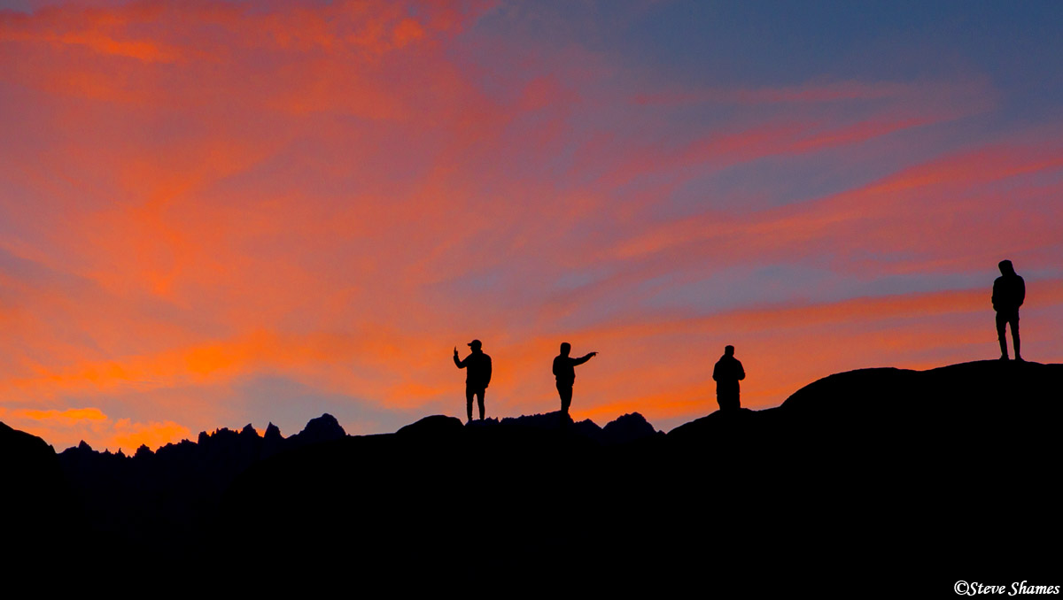 alabama hills sunset, owens valley, california, photo