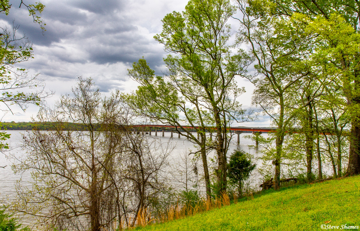 The Tennessee River, as seen from the Alabama side.