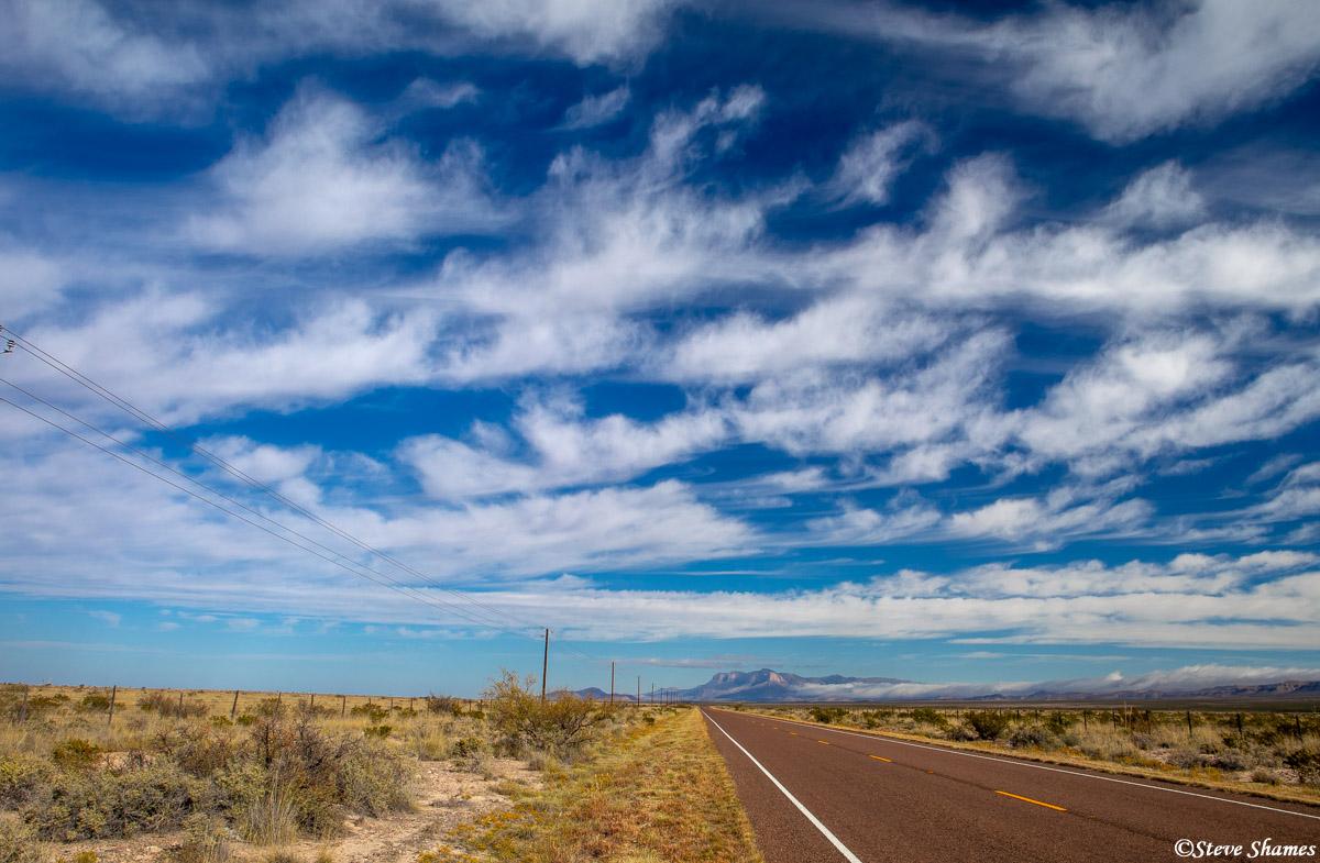 west texas, highway 54, big sky, photo