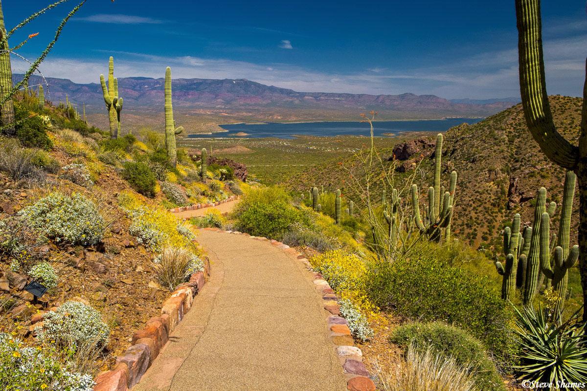 tonto national monument, arizona, walking path, photo