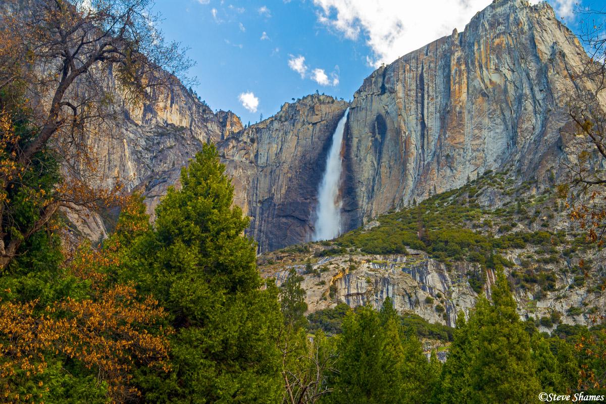 upper yosemite falls, national park, photo