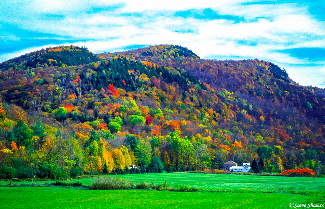 colorful hillsides, vermont, new england, photo