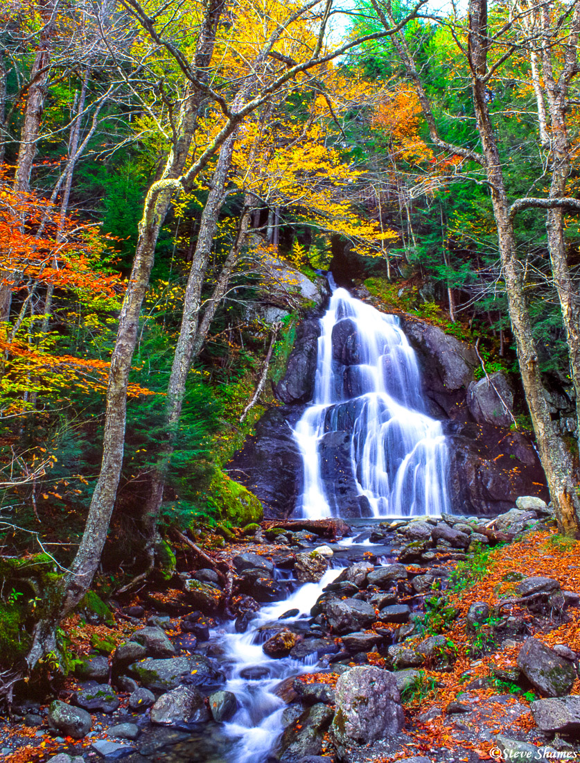 ludlow vermont, new england, waterfall, highway 100, photo