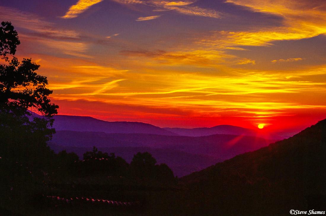 shenandoah, national park, virginia sunrise, photo