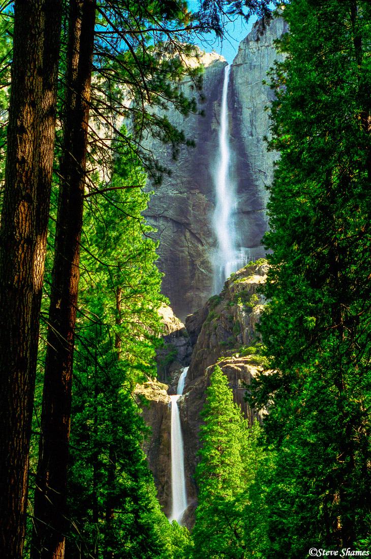 yosemite national park, yosemite falls, waterfall, photo