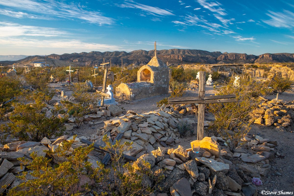 West Texas cemetery in the ghost town of Terlingua.