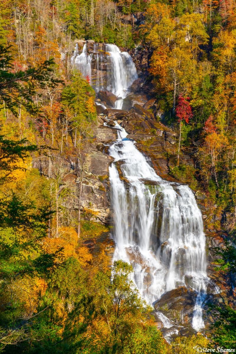 Here is White Water Falls, one of several scenic waterfalls in North Carolina.