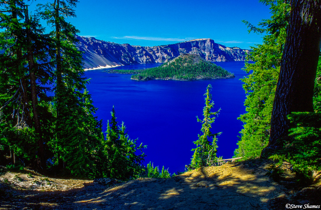 crater lake national park, oregon, wizard island, photo